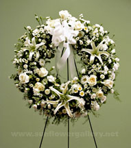 white-funeral-wreath