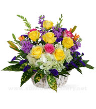 fresh-flower-basket